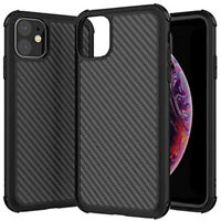iPhone 11/11 Pro/11 Pro Max TPU Carbon Fiber Finish Case Cover Corner Protection