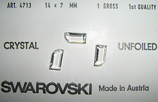 SWAROVSKI ® - 10 Pz  #4713 - 14x7 Crystal Clear Vintage Unfoiled  Rhinestone