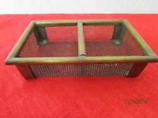 alter Gitterkorb für Puppenstube bzw. Puppenhaus oder Kaufladen, Metall   /S117