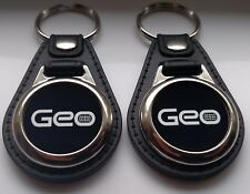 GEO KEYCHAIN 2 PACK BLACK AND WHITE METRO PRIZM TRACKER STORM
