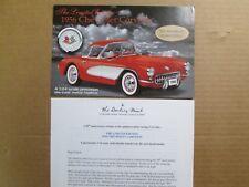 Danbury Mint Brochure 1956 Chevy Corvette LE