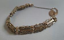 Beautiful Antique 9ct Rose Gold Bracelet