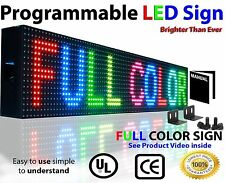 LED BILLBOARD Signs 6in x 2ft :Full Color PROGRAMMABLE Open MESSAGE BOARD NEON