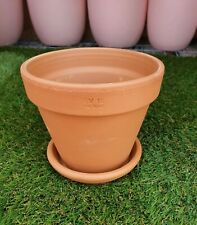 15cm Outdoor Garden Patio Plant Italian Terracotta Round Planter Pots Saucers