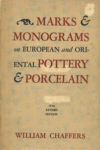 Oriental European Pottery Porcelain Makers  Marks Dates / Scarce Book 1095 pages