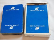 Vintage UNITED AIRLINES PLAYING CARDS  White on Blue