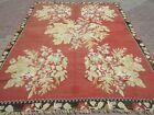 "Vintage Turkish Kilim Rug Antique Wool Floral Rugs 90,1""x122,4"" Area Rug Carpet"
