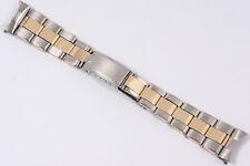 Vintage 1964 Rolex USA C+I Steel & Gold Two Tone Oyster Rivet Expansion Bracelet