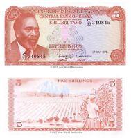 Kenya 5 Shillings 1978 P-15  Banknotes  UNC
