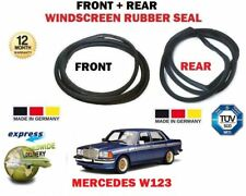 FOR MERCEDES W123  1976-1985 NEW FRONT + REAR WIND SCREEN WINDOW SEAL SET