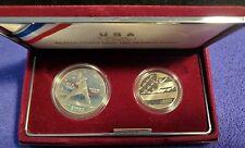 1992-S USA OLYMPIC 2-COIN SET WITH 90% SILVER NOLAN RYAN DOLLAR COIN & AUTOGRAPH