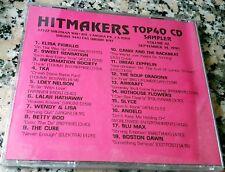 HITMAKERS TOP 40 CD SAMPLER 42 RARE DJ CD 1990 TKA Cure Boston Dawn Slyce Angelo