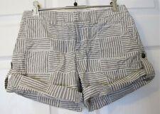 Club Monaco grey/white shorts-size 00/ UK XXS