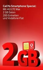 2 GB LTE 200 Minuten In alle netze Vodafone Netz D2 Smartphone Karte