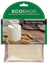 "ECOBAGS® Nut Milk Bag  Organic Cotton Straining Bag 10"" x 12"""