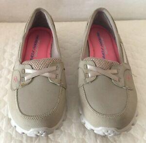 SKECHERS Memory Foam Loafers Beige Suede Women's Size 7.5
