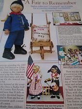 1pg SASHA Doll Article FAIR TO REMEMBER / Urbandale IO Iowa 1997  b1