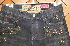 SEVEN FOR ALL MANKIND -THE GREAT CHINA WALL- GOLD CRYSTALS SIZE 25 MADE IN USA