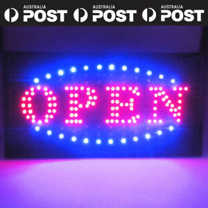 Large Led Open Sign Flashing Size 48*25CM Business Board Electric For Shop cafe