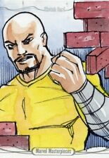 Marvel Masterpieces 2016 Sketch Card - ANDY CARREON - LUKE CAGE