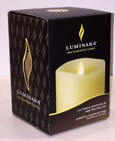 Luminara ® Flameless Candle - Vanilla Scented Ivory Wax Pillar - 4 in