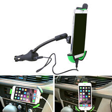 Universal Dual USB Car Charger Holder Support Mount Stand For Mobile Phone