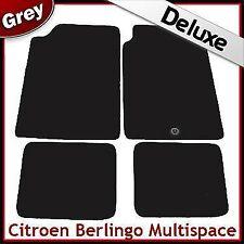 Citroen Berlingo Multispace 1996-2007 1-Clip Tailored LUX 1300g Car Mats GREY