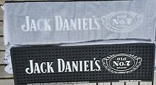 Official Jack Daniels Cartouche Logo Silicon Bar Mat Runner Brand New for 2021