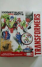 TRANSFORMERS CONSTRUCT-BOTS DINOBOT WARRIORS OPTIMUS PRIME & GNAW DINO 3/1 NEUF