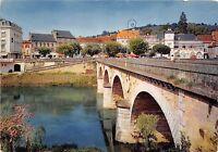 BR23364 Le Bugue le pont les quais au centre de la ville  france