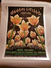 Global Citizen Festival poster, Ap, S/N and Doodled by Emek, Le on pearl paper