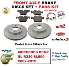 Pour Mercedes Benz Sl R230 SL500 2002-2012 Frein avant Coussinets + Disques +