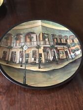 Two Painted Tuscany Decorative Plates Country Scene Home Decor Wall Art
