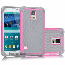 For Samsung Galaxy S5 S3 Shockproof Armor Rugged Rubber PC Hard Case Cover i9600