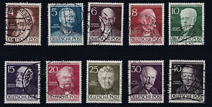1953 Männer aus der Geschichte Berlins 91 - 100 sauber Gestempelt