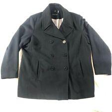 Calvin Klein Mens Sz X-Large Wool Blend Pea Coat Black Winter