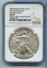 2016W American Burnished Silver Eagle Lettered Edge MS 69 30th Anniversary RC281