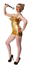 Ladies 80s 90s Gold Iconic Pop Star Celebrity Hen Do Fancy Dress Costume Outfit