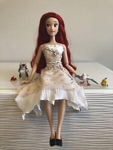 "Disney Limited Edition 17"" Ariel Doll Custom Beach Tarp Dress Sebastian Friends"