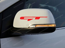 2 x Kia GT Stickers for Mirrors, Stinger, Ceed, Rio, Optima, decals, labels #8