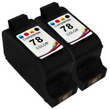 2PK Ink Cartridge For HP 78 HP78 C6578D Color deskjet 940 932c 952 960 970 990