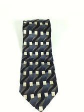 "Joseph & Feiss 100% Silk Tie Blue Gray Black  59"" Long Grey Lined"