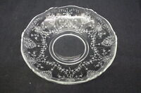 "Vintage Heisey ORCHID Etched Clear Depression Glass 9"" Gardenia Bowl #1509 (2)"