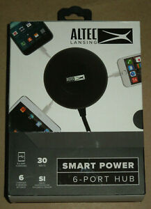 Altec Lansing Smart Power Charging Hub 30w 6 Charging Ports USB Android iPhone
