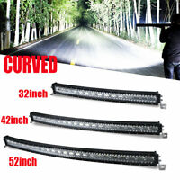 32'' 42'' 52'' Curved Offroad LED Spot Flood Combo Beam Driving Work Light Bar