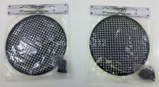 Lot of 2 Install Bay 85-9012 12-Inch Steel Speaker Waffle Grilles with Hardware