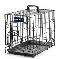 "Pet Kennel Cat Dog Folding Crate Wire Metal Cage 2 Door 48"" 42"" 36"" 30"" 24"" 18''"