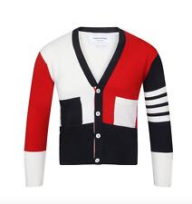 Thom Browne FUN MIX Colorblock Cashmere Cardigan/Sweater. 3.