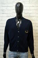 TRUSSARDI Uomo Taglia XL Maglione Cotone Pullover Cardigan Sweater Felpa Blu Man