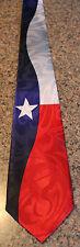 "NWT Men's Texas Flag Neck Tie Multi Color Harris 58""L 3.8""W"